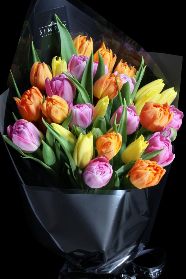 Mixed Color Tulip Bouquet