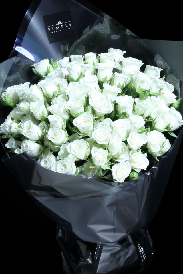 Baby Milky White Roses Bouquet