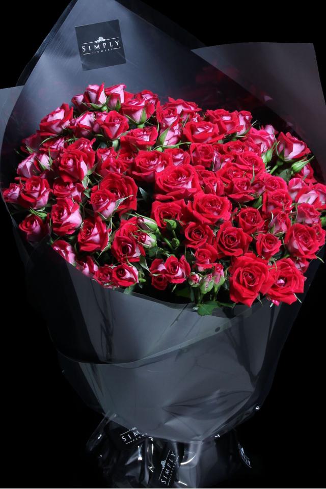 Valentine's Red Baby Rose Bouquet