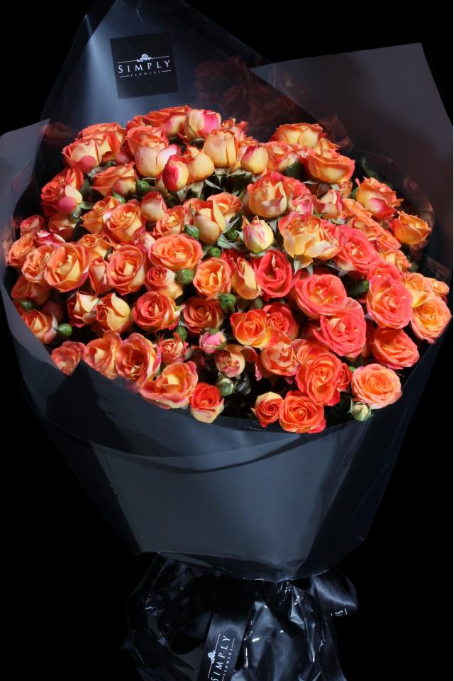 Baby Orange Roses Bouquet